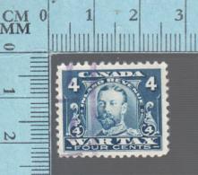 Timbre Fiscaux Canada -FWT10, 4¢, War Tax  , 1915, Tax Stamp - Fiscaux