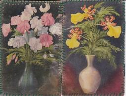 Handarbeit Etui Mit Blumenmotiv - 14*9cm - Ca. 1910/20 (35498) - Kreative Hobbies