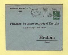 Suisse - Entier Postal Privé - Simonius Vischer & Co - Bale - Filature De Laine Peignee Erstein - 1922 - Enteros Postales