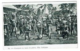 Canaques En Tenue De Guerre, Nouvelle Calédonie - 2 Scans - Nouvelle-Calédonie