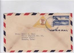 AIRMAIL CIRCULEE REPUBLICA DOMINICANA TO CUBA. OBLIT CIRCA 1936. - BLEUP - Dominicaanse Republiek