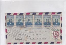 AIRMAIL CIRCULEE REPUBLICA DOMINICANA TO CHILE. BANDELETA PARLANTE. OBLIT CIRCA 1940's - BLEUP - Dominicaanse Republiek