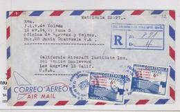 AIRMAIL CIRCULEE GUATEMALA TO USA. OBLITERE 1967. RECOMMANDE. - BLEUP - Guatemala