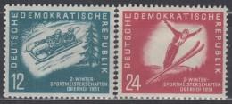 DDR  280-281, Postfrisch *, Wintersport 1951 - Unused Stamps