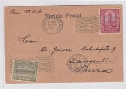 CARD CIRCULEE GUATEMALA TO SUIZA. OBLITERE 1934. BANDELETA PARLANTE.- BLEUP - Guatemala