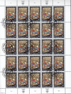 UNO GENF  285, Kleinbogen (5x5), Gestempelt, 50 Jahre WFUNA 1996 - Genf - Büro Der Vereinten Nationen