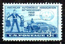USA. N°558 Oblitéré De 1952. American Automobile Association. - Coches