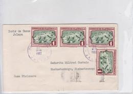 SOBRE ENVELOPE CIRCULEE GUATEMALA TO HUEHUETENANGO. CIRCA 1952. BANDELETA PARLANTE.- BLEUP - Guatemala