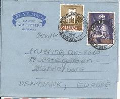 Zambia Aerogramme Sent To Denmark 1969 - Zambia (1965-...)
