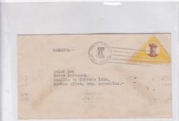 SOBRE ENVELOPE CIRC REPUBLICA DOMINICANA TO ARGENTINE. CIRCA 1936.BANDELETA PARLANTE.- BLEUP - Dominicaanse Republiek