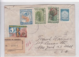 SOBRE ENVELOPE CIRC PARAGUAY TO USA. CIRCA 1940's RECOMMANDE.- BLEUP - Paraguay