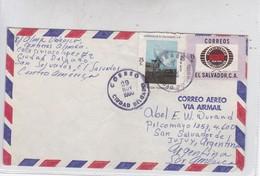 AIRMAIL CIRC EL SALVADOR TO ARGENTINA CIRCA 1980- BLEUP - El Salvador