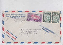 AIRMAIL CIRC GUATEMALA TO USA. CIRCA 1951. BANDELETA PARLANTE- BLEUP - Guatemala