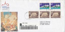 Austria Registered Cover Sent To Germany Wien 12-10-2000 - 1945-.... 2ª República