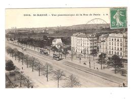 SAINT MANDE - VUE PANORAMIQUE DE LA RUE DE PARIS - Saint Mande