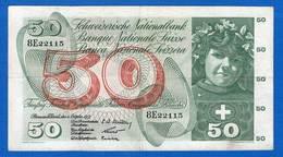Suisse  50  Fr   De  1957   8e - Switzerland