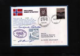 Norway 1994 Interessante Luftschiff Postkarte - Norwegen
