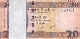 SOUTH SUDAN 20 POUND 2017 P-NEW LOT X100 UNC NOTES BUNDLE */* - South Sudan