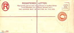 Gibraltar 1912 Registered Letter 2d (225x100mm), (Unused Postal Stationary) - Gibraltar