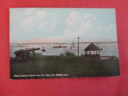 Peaks Island & Harbor From Fort Allen Park  Cannon   Maine > Portland   Ref 3004 - Portland