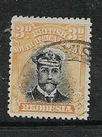 Rhodesia, B.S.A.Co. Admiral, 1913-22, 3d Black & Yellow, Perf 14, Die II, Used - Rhodésie Du Sud (...-1964)