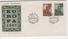 GREECE 1967 Europa First Day Cover Mi. Nr. 948-949 - Greece