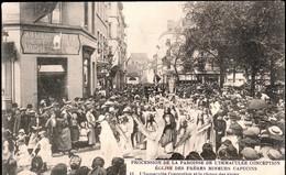 Bruxelles : Rue Blaes Procession Place Du Jeu De Balle - Feesten En Evenementen