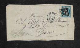 25 Cents Ceres,  On Fragment, Canelled 321 Plus  ROUEN 4 SEPT. 85 C.d.s..alongside > Paris - 1871-1875 Ceres