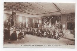 PAQUEBOT ILE DE FRANCE - N° 3 - INTERIEUR - LE SALON DE CONVERSATION - CPA NON VOYAGEE - 75 - Paquebots