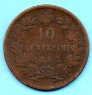 (r65)  ITALY / ITALIE  10 Centesimi 1863 - 1861-1878 : Victor Emmanuel II