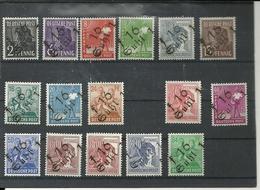 ALEMANIA 1948 - Ocupaciones Aliadas - Zona Soviética - MI 166/181 Excepto 175 * - Distritos Locales - Zone Soviétique