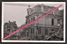 76 LE HAVRE -- Graville Mairie En 1944 _ Destruction _ Bombardement _ Guerre 1939-1945 _ Militaire _ Photo Originale - Guerra, Militari