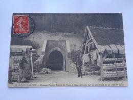 CHATEAU -LANDON : Hameau LORROY , Entrée Des Caves à Blanc Détruite Par La Catastrophe Du 21 Janvier 1910 - Chateau Landon