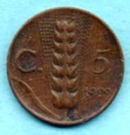 (r65)  ITALIE ITALY  5 CENTS 1929  VITT.EM III - 1861-1946 : Royaume