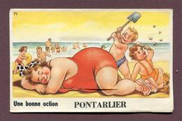 """PONTARLIER  (25) : """" CARTE AVEC DEPLIANT """" - Pontarlier"""