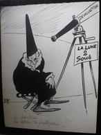 E.TAP (Edmond Tapissier) - Le Charlatan - Dessin Original 24 X 32 Cm. - Dessins