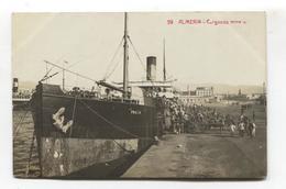Almería - Cargando Mineral, Loading Minerals On Boat - Vieja Postal Fotográfica De 1912 - Almería