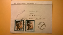 1975 BUSTA CON ANNULLO ALFONSINE - PIACENZA BOLLO DOPPIO PROPAGANDA DEL TURISMO 1974 GRADARA - 6. 1946-.. Repubblica