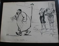 E.TAP (Edmond Tapissier) - En Carte - Dessin Original 24 X 32 Cm. - Dessins