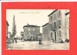 38 SAINT VERAND Cpa Animée Place De La Mairie    Edit Chirouze - Saint-Vérand