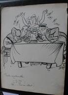 E.TAP (Edmond Tapissier) - Partie Mouvementée - Dessin Original 24 X 32 Cm. - Dessins