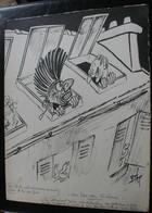 E.TAP (Edmond Tapissier) - Au Son Des Sirènes - Dessin Original 24 X 32 Cm. - Drawings