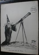 E.TAP (Edmond Tapissier) - Astronomie - Dessin Original 24 X 32 Cm. - Dessins