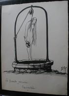 E.TAP (Edmond Tapissier) - La Grande Accusée - Exécutée - Dessin Original 24 X 32 Cm. - Dessins