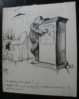 E.TAP (Edmond Tapissier) - Des Capitaux Bien Placés ? - Dessin Original 24 X 32 Cm. - Dessins
