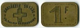 N93-0496 - Monnaie De Nécessité - Paris - Brasserie Suisse - 1 Franc - Monetari / Di Necessità