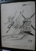E.TAP (Edmond Tapissier) - Vent De Folie - Dessin Original 24 X 32 Cm. - Dessins
