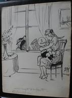 E.TAP (Edmond Tapissier) - Rapts D'enfants - Dessin Original 24 X 32 Cm. - Dessins