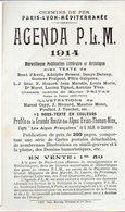 Chemins De Fer PLM Publicité Pour L''AGENDA PLM 1914  (PPP8958) - Advertising