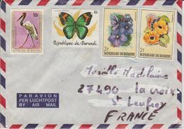 Burundi Lettre Pour La France Année 198. Cachet Très Peu Lisible - 1980-89: Oblitérés